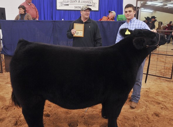 Red River Chevy Dealers purchased the grand champion steer, raised by Ryan Crafton of Henrietta, for $2,200 during last year's Clay County Junior Livestock Show premium auction.