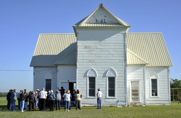 The Newport Church in southeast Clay County was the first of several stops in the 2012 Hello Neighbor Tour. This year's tour will focus on northeast Clay County.
