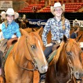 Sisters Layton and Mikayla Graham of Bluegrove competed Friday in the youth division of the RCHA ranch cutting at the Texas Ranch Ranch Roundup.
