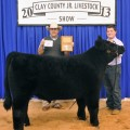 Grand Champion Steer — Klayton Hoff, Clay County 4-H