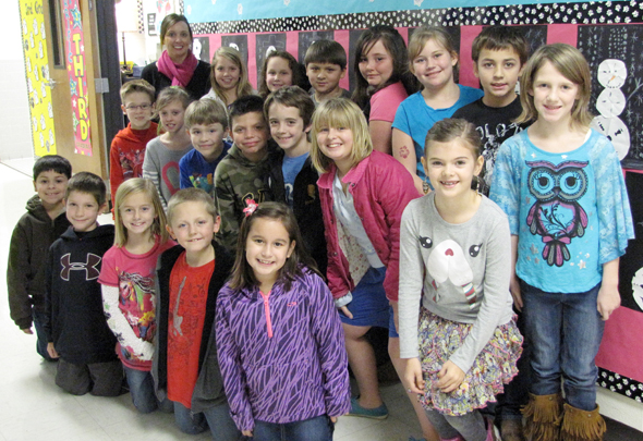 Ms. Jennifer's class earned the attendance award for the third six weeks.