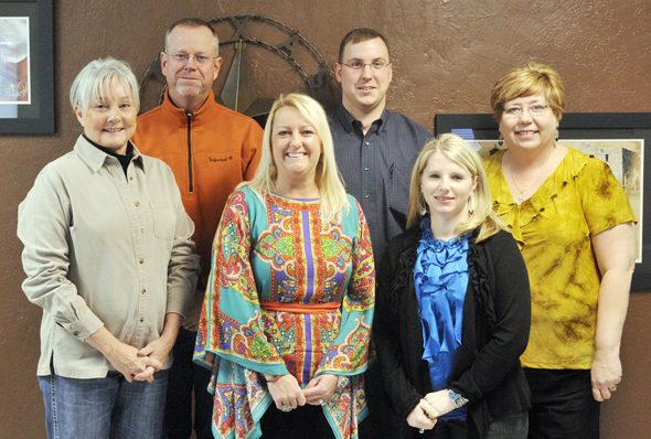 Newly elected directors of the Henrietta and Clay County Chamber of Commerce are Deborah Clark of Birdwell-Clark Ranch, Brent Durham of Durham Properties, K.J. Davidson of Thirty-One Gifts, Michael Russell of Davis Funeral Home, Amy Ellis of the First National Bank of Byers and Lori Riggins of Wells Fargo Bank.