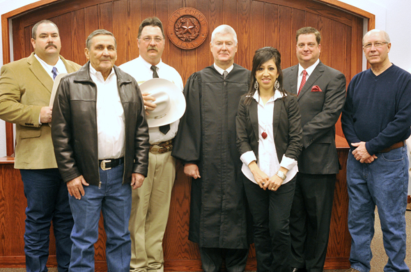 Beginning a new term in 2013 are Constable Ronnie Pullin, Precinct 1 Commissioner  Lindy Choate, Sheriff Kenny Lemons, 97th District Judge Jack McGaughey, Tax Assessor-Collector Maribel Longoria, County Attorney Seth Slagle and Precinct 3 Commissioner John McGregor.