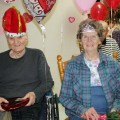 Harrell Edwards and Ruth Lemonds were chosen Valentine's Day King and Queen at Henrietta Care Center.