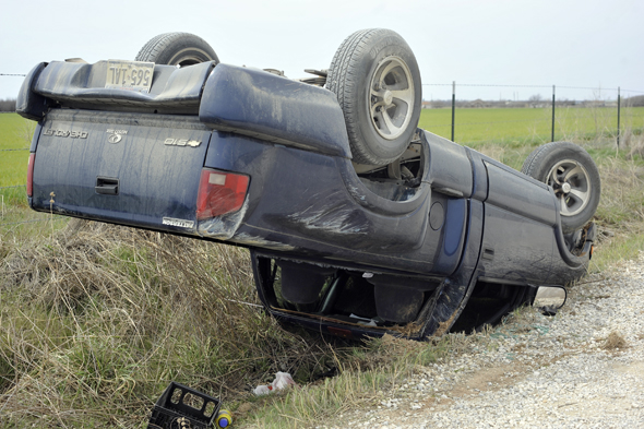 A Wichita Falls woman who is expecting a child was transported by ambulance after a one-vehicle rollover Tuesday.