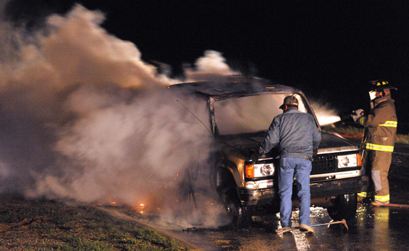 Henrietta Volunteer Fire Fighters extinguished and early morning car fire Thursday.