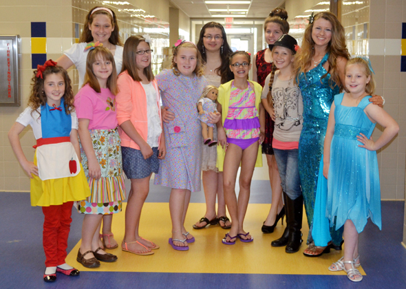 Clay County 4-H members participating in the district fashion show are Layton Graham, Madeline Catron, Lauren Taylor, Hailey Tally, Katie Yurcho, Amber Dillaman, Korri Franke, Jacobi Reynolds , Kalico Burkes, Mikayla Graham, Ashley Riddle and Nicci Moore (not pictured).