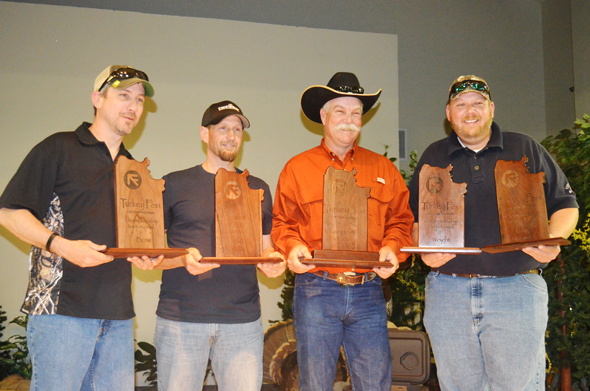 Huntin' the World earned the 2013 Turkey Fest World Championship title. The team hunted the F Bar Ranch with guide Darrell Bryant.