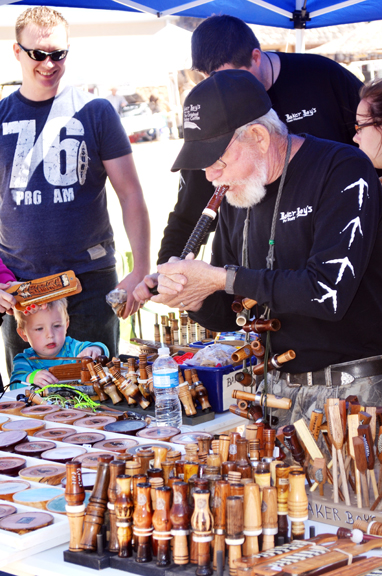 Baker Boys Game Calls were just one of several hunting and outdoors retailers with booths set up during last year's Turkey Fest activities.