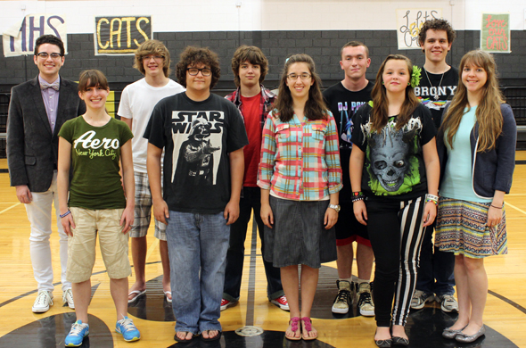 Band members who qualified for the Solo and Ensemble contest are Justin Caldwell, Katelyn Suneson, Nathan Clark, Ian Clark, Garen McGhee, Brittany Taylor, Levi Hedrick, Delanie Franklin, Chris Davis and Kaitlyn Cecil.