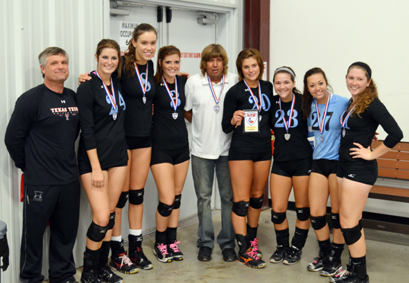 The CCVA 18s team is made up of Assistant Coach Chris Hamilton, Brittney Griffith of Archer City, Sarah Eakin of Wichita Falls, Breanna Smoak of Nocona, Head Coach Ray Bussey, Allie Hackley of Nocona, C.J. Hamilton of Nocona, Cassie Pickett of Henrietta and Joyana Zamzow of Henrietta.