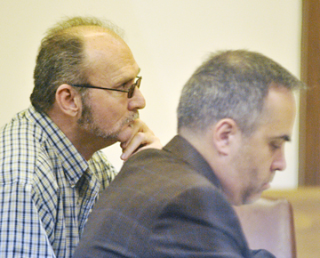 Terry Lynn Fincher (left) with defense attorney Mark Barber.