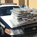 DPS Troopers discovered 43.5 pounds of marijuana hidden in the cargo space of a Toyota minivan (rear) Tuesday during a routine traffic stop near Bellevue.