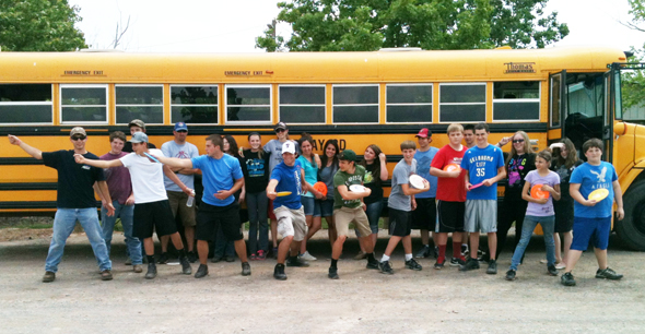 Midway students earning high marks in the school's Falcon Pride program spent a day at Lake Wichita Park playing disc golf and horseshoes.