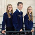 Henrietta FFA members Katie Jo Blanscet, Connor Kirby and Annelise Sauer.