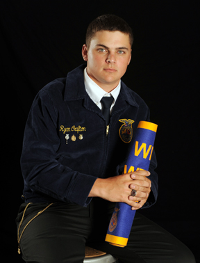 Ryan Crafton of the Henrietta FFA is a candidate for the American FFA Degree