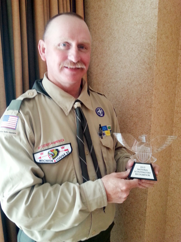 Joe Bill Brock, recognized as one of the top 55 scoutmasters in the nation.