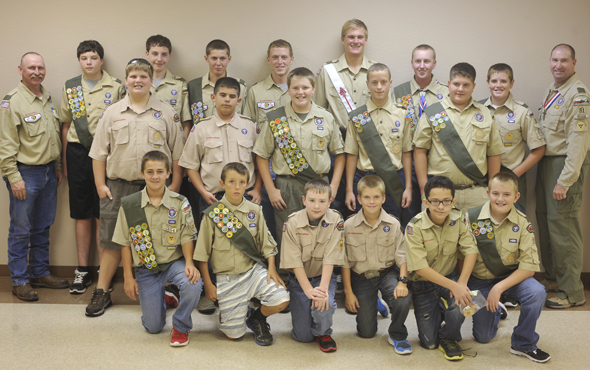Members of Boy Scout Troop 91 ware awarded merit badges and advancements in rank during Tuesday's Court of Honor ceremony.