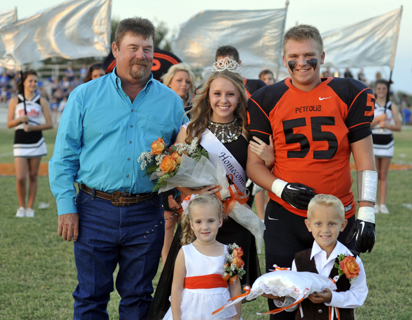 Dessie Elledge was crowned Petrolia homecoming queen Friday night.