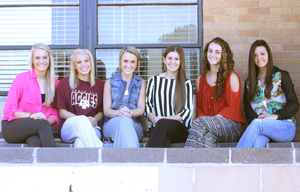 Henrietta homecoming queen nominees are Addison Wade, Heather Hicks, Katie Halsell, Kailey Kirk, Anni Scholl and Cassie Pickett.