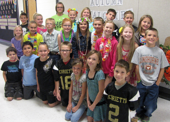 Mrs. Tina Moore's fourth grade class