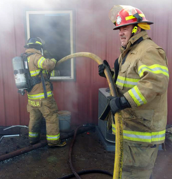 Petrolia, Byers, Jolly, Dean and Charlie-Thornberry volunteer fire departments responded to a structure fire Saturday afternoon that injured one.