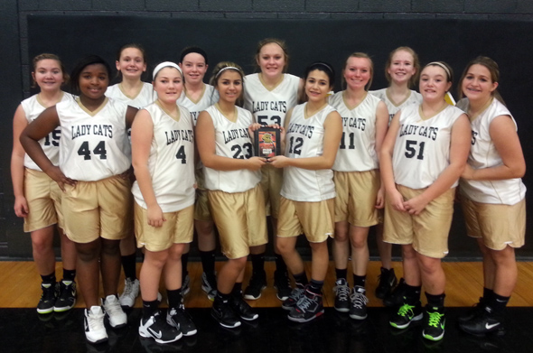 Henrietta's eighth grade team took second place in the junior high 'B' tournament, hosted by Henrietta Junior High.