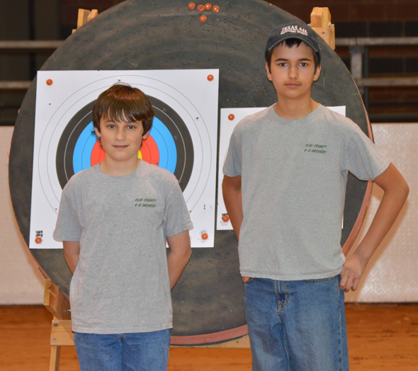 Braden and Dylan Gregory of Bellevue competed in the 4-H State Indoor Archery Tournament Saturday, May 22.