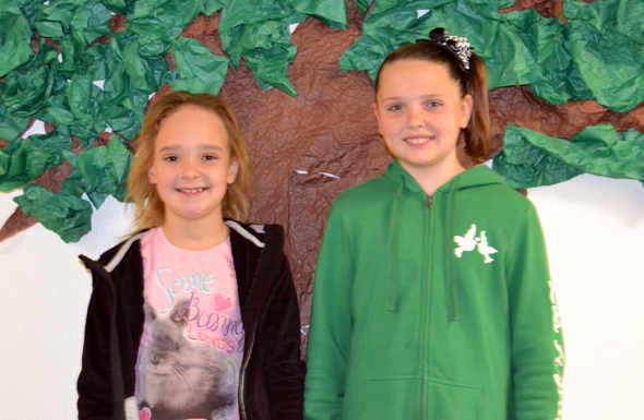 Bellevue Kindergartener Cierra Matz and fifth grader Austin Ford earned Examplary Eagle awards for the fourth six weeks grading period.