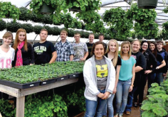 Henrietta FFA students have been preparing for their annual plant sale, set for April 10-11.