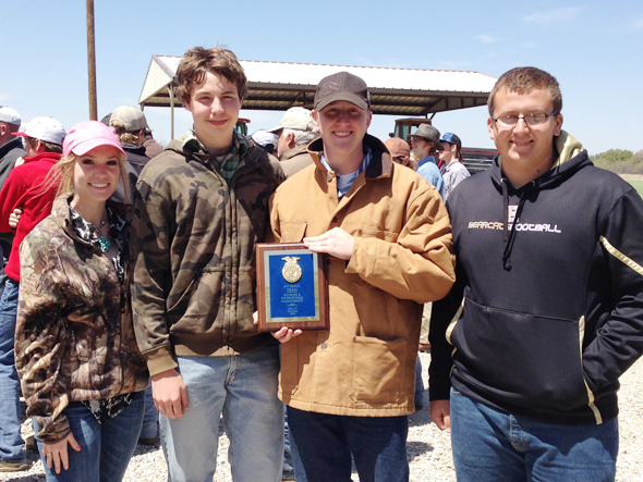 Henrietta FFA Wildlife team members are Katelyn Bowles, Connor Duncan, Luke Brock and Zach Bloodworth.
