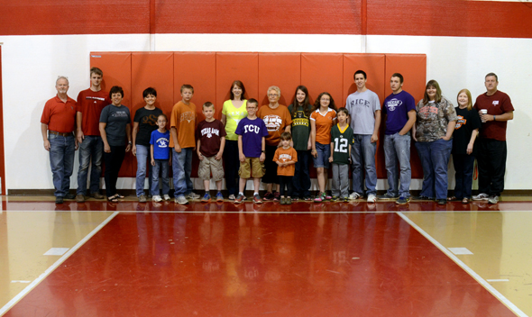 Midway students and staff supporting their favorite college.