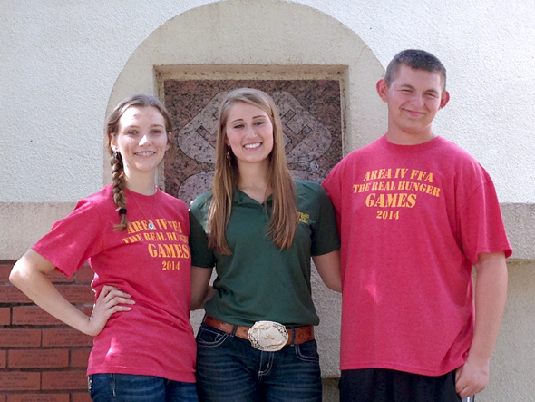 Henrietta FFA members Macey Baber, Josey Cleveland and Conner Chambers attended the Area IV FFA Leadership Conference in Brownwood June 24-25. Cleveland is the vice president of Area IV. Baber serves a reporter for the Wichita District. Baber and Chambers also serve as chapter officers.