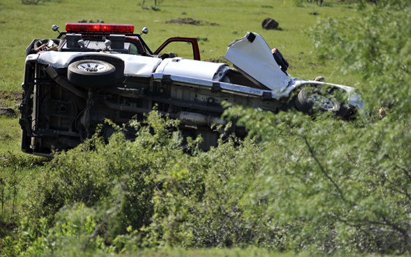 Two Archer City residents were transported to an area hospital after their vehicle rolled over on FM 174, east of Four Corners, Monday morning.