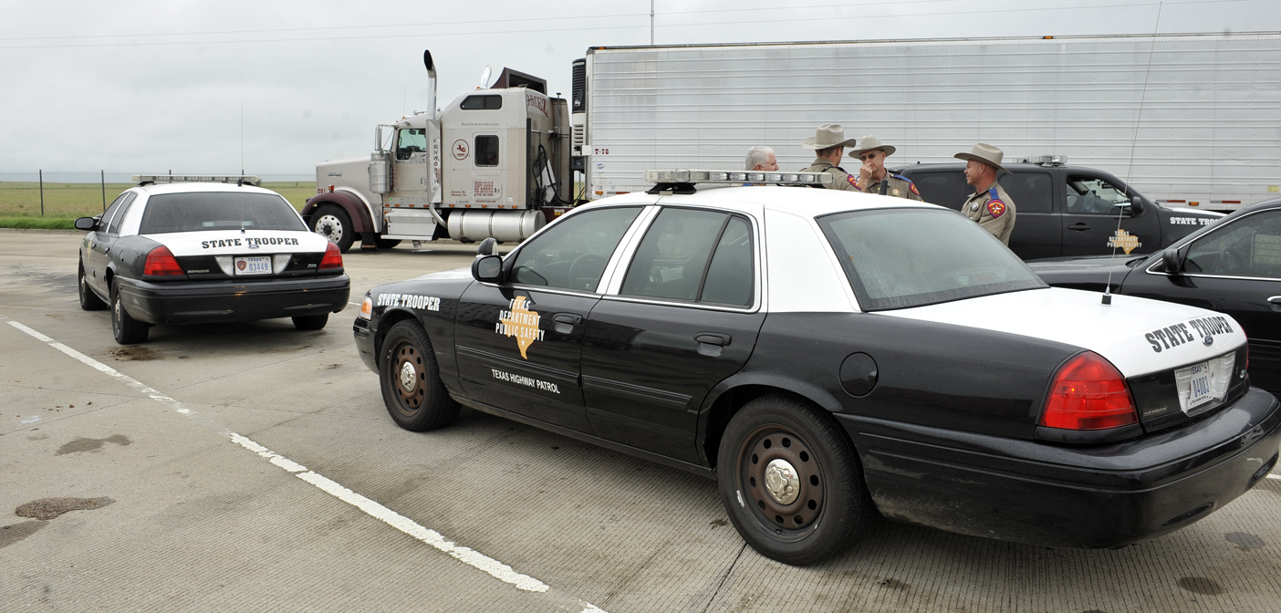 DPS Troopers investigating the early morning death of a woman on Hwy. 287 Thursday wait for the results of a DOT inspection of the tractor-trailer that struck the pedestrian.