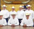The Nine Man Board, working arm of the Clay County Pioneer Association, is making final preparations for the 83rd Pioneer Reunion and Rodeo. Board members are (front) Vice Chairman E.C. Crump of Terrapin Flats, Chairman Michael Sanderson of Henrietta, Arena Director Jeff Jordan of Petrolia, (back) Scott Graham of Bluegrove, Weldon Craig of Byers, Bob Wuthrich of Fairview, Coye Cody of Cambridge, Mitchell Brown of Dick Worsham and Keith Henry of Dean.