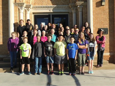 Henrietta Junior High students reaching the 1,000 page mark in the Read For Life program are Leah Scribner, Trent Tice, Hunter Wamba, Lyndsie Avenius, Hadley Craib, Cooper Ellis, Colton Shook, Annie Dunn, Alex Duke, Haleah Harmon, Sarah Brown, Savannah Johnson, Holt Chambers, Robby Story, Trace Arnhold, Cade Johnson, Charisse Bellfield, Mason Marchman, Joshua Patin, Kalico Burkes, Camrin Byers, Leah Bulinger, Kaci Williams, Abby Zamzow, Sydney Baggs, Isabella Garcia, Jacqueline Cook, Blake Liggett, Kara Chapparo, Riqui Duron, Macie Frederick and Noah Patin (not pictured).