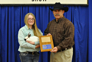 Meat Rabbits Grand Champion — Trista Lawson, Clay County 4-H