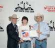 Kandon Bennett with Ed Bass, chairman of the board for the Fort Worth Stock Show and Rodeo and sponsor Theo Thompson.